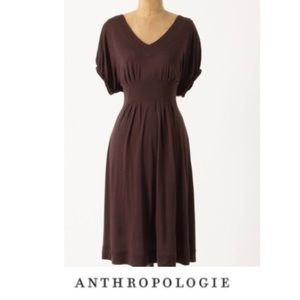 {Anthropologie} Deletta brown midi dress Medium